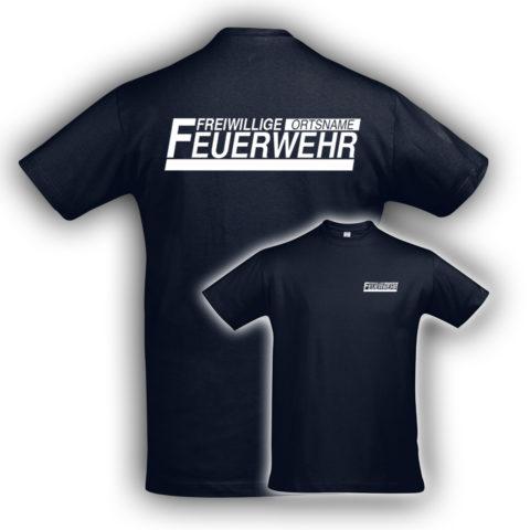 T-Shirt Navy Weiß