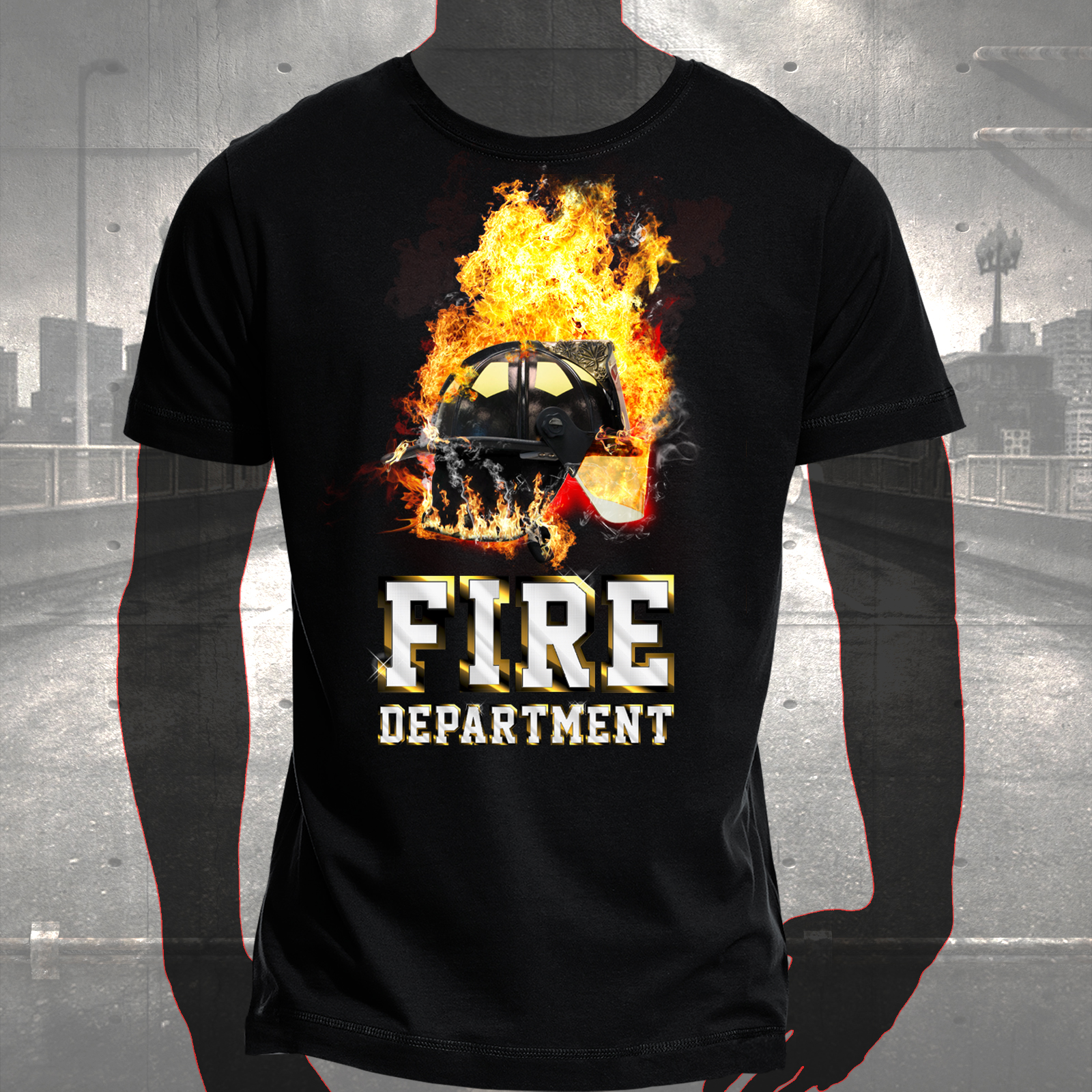 T shirt fire department hauptstadtfeuerwehr for On fire brand t shirts